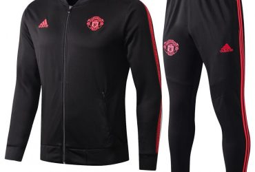 Manchester United Presentation Tracksuit | Black Red