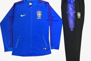 Brazil Blue Football Presentation Tracksuit