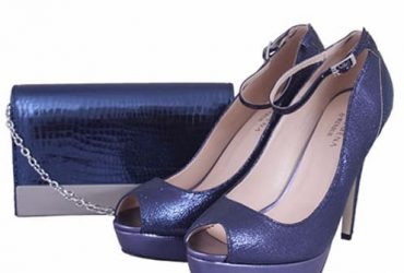 Pacomena By Menbur Blue Shoe And Bag