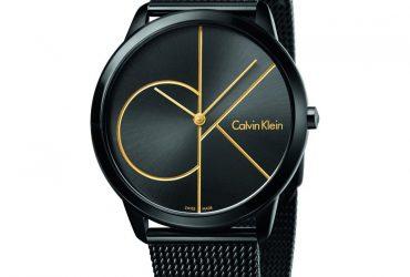 Calvin Klein Black Stainless Mesh Wristwatch