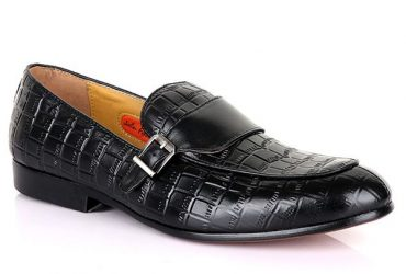 John Foster Buckle Design Design Croc | Black