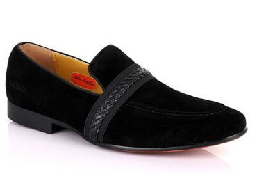 John Foster Wooven Band Suede | Black