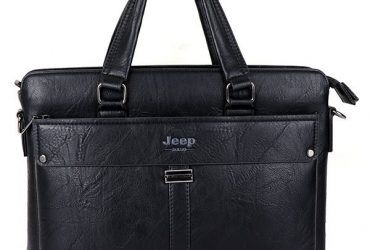 Jeep Buluo Leather Bag | Black