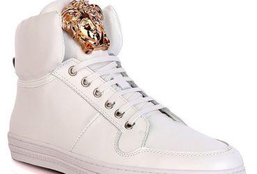 Medusa Logo Luxury High Top Sneakers | White