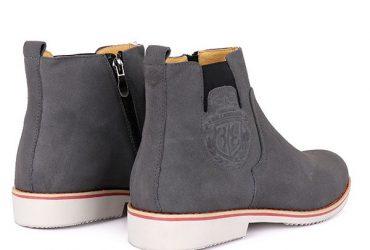 Billionaire Suede Zip Up Boots | Grey