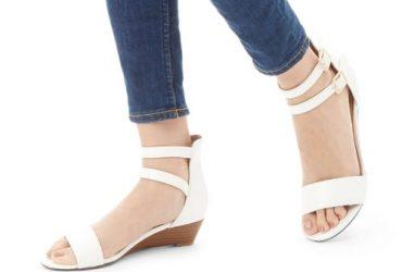 Carvela Low Wedge Sandals – White