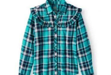 Ruffle Button Down Shirt
