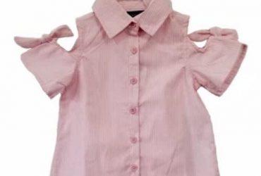 Button Down Girls Shirt Top