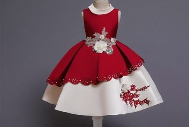 AWW 3d Floral Laser Cut Princess Dress