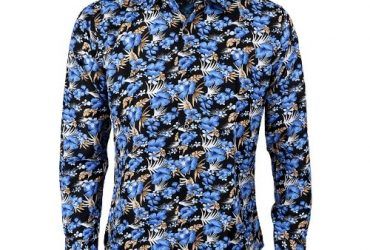 Men's Patterned Long Sleeve Shirt – G003
