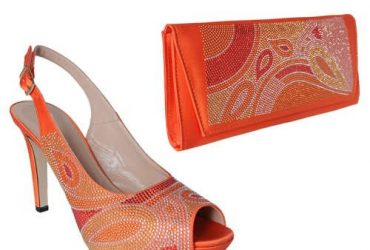 Raimondo Buccelli Shoe & Bag – Orange…
