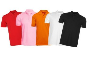 Multi-Colour Plain Polo Shirt – Pack …