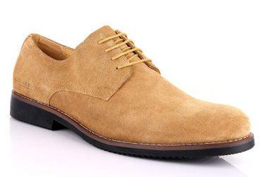 Billionaire Men's Suede Lace Up Shoe   Light Brown