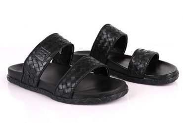 Bottega Veneta Wooven Slide | Black