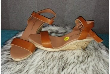 Ladies Wedge Sandals-Brown