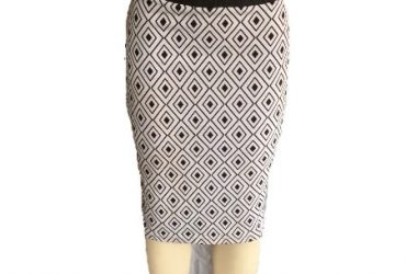 SOS Culture Pencil Skirt – Black & White
