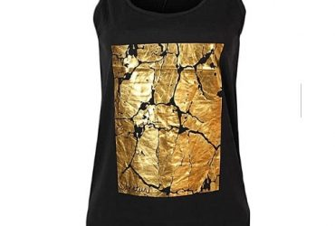 Gold Patterned Tank Top