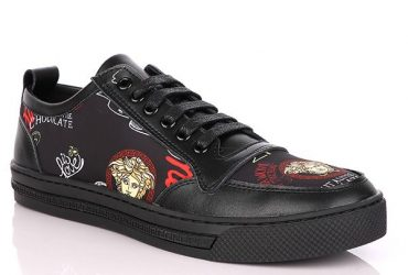 Versace Luxury Design Low Sneakers | Black