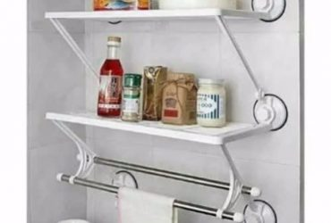 Double Layer Bathroom And Kitchen Rack Wall Shelf