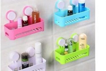 4-Pcs Sucker Corner Shelf Bathroom and Kitchen Storage