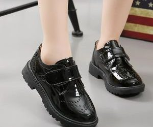 Kids-flat-leather-shoe