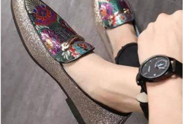 Men's Embroidery Designer Loafer Shoe…