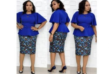 Ladies Skirt And Top – Blue
