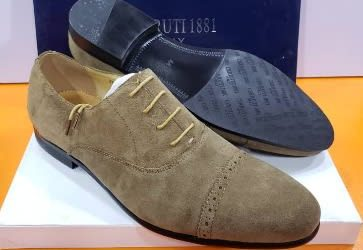Renato Dulbecc Light Brown Suede Oxfo…