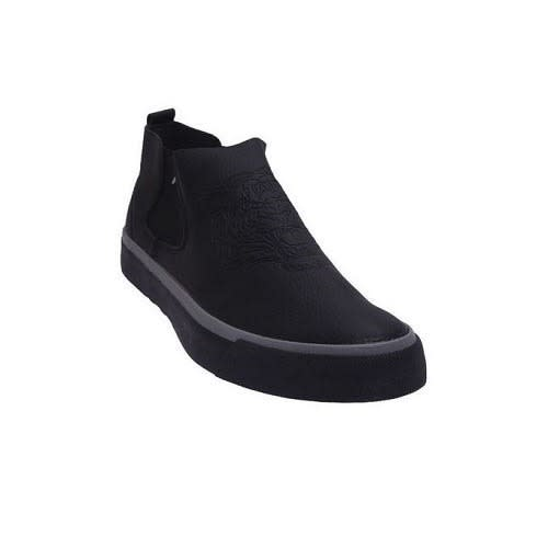 Embossed Springy Ankle Leg Sneakers –