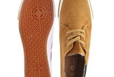 Men's Casual Lace Up Sneakers – Brown…
