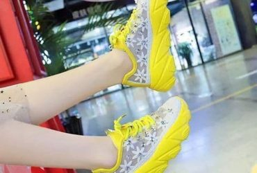 Female Net Sneakers – Yellow