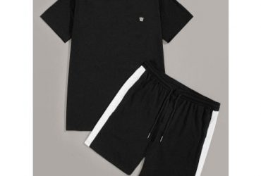 Crown Inscribed Top And Short – Black…